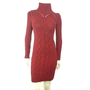 Moda International Red Cable Knit Sweater Dress